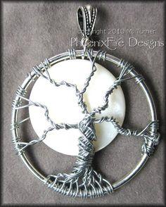 full moon tree of life pendant