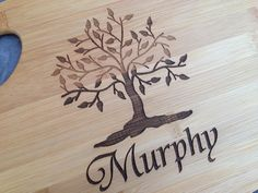Personalized cutting board engraving by customcoinrings
