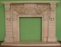 Hand carved flower design marble fireplace, travertine fire place, limestone mantel, sandstone fireplaces mantelpieces.