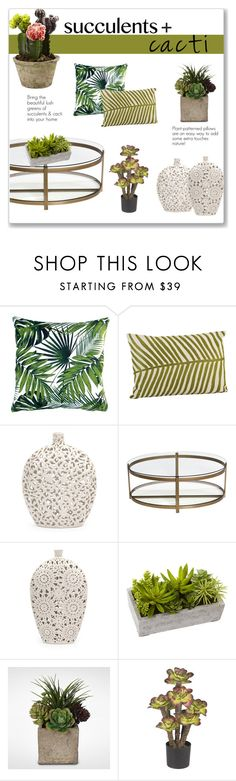 """""""Succulents + Cacti"""" by overstock ❤ liked on Polyvore featuring interior, interiors, interior design, home, home decor, interior decorating, Saro, homedecor, succulents and cacti"""