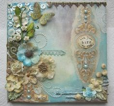 Creative Flair Scrapbooking : Gesso and texture Paste