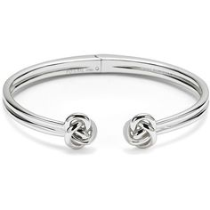 Fossil Knot Cuff ($68) ❤ liked on Polyvore featuring jewelry, bracelets, knot bangle, metal cuff bracelet, knot jewelry, cuff jewelry and bracelet jewelry
