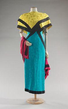 Piecework Evening Dress and Wrap, 1984Arnold Scaasivia The Met