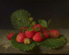 William Hammer (1821-1889) - Still life with strawberries