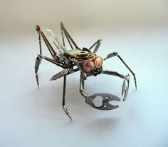 Steampunk Bugs Created From Old Recycled Watches - DesignTAXI.com