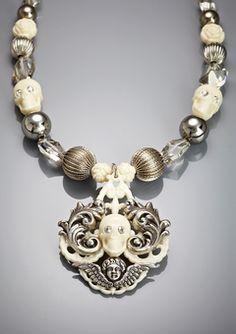 tarina tarantino skull necklace