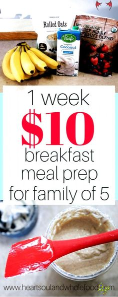 Family meal prep. These breakfast meal prep ideas will fit your food budget and make meal prepping healthy meals super easy. Food budget meal prep. #detoxdiet #easy dinner recipes for family<br> Budget Meal Prep, Cooking On A Budget, Food Budget, Freezer Cooking, Easy Budget, Easy Cooking, Best Breakfast Recipes, Eat Breakfast, Breakfast Ideas