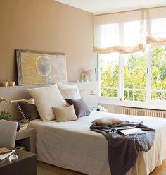 Dormitorio principal con cabecero integrado