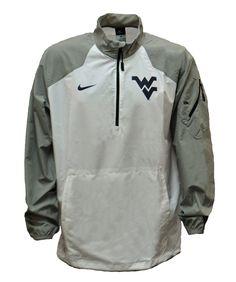 Nike Lockdown 1/2 Zip Pullover - White #bookexchangewv #wvu #mountaineers #nike