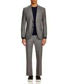 Hardy Amies Houndstooth Slim Fit Wool Suit