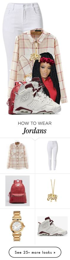 """""""Doing Whats Right Has Never Been My Goal ❤"""" by aniahrhichkhidd on Polyvore featuring Versace, MCM and NIKE"""