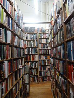 A corner of Strand Bookstore in Union Square. Boasts 18 miles of books inside.