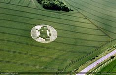Crop Circle by Space Invader, photo by Lucy Pringle
