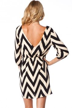 This dress is sold out, but site had some other really cute clothes!  Forever Zig Zag Cinch Dress in Creme Classic