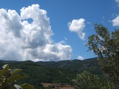 The mountains and clouds if Conflenti, Calabria Italy.