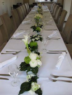 Tischdeko weiß/grün