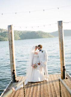 Cafe Lights Along the Dock? lakeside wedding