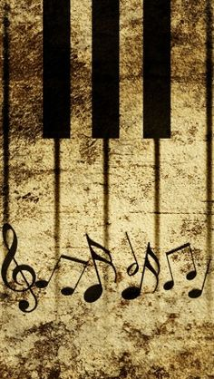 Vintage Piano Keys With Musical Notes 250x443 Piano Music Notes Background