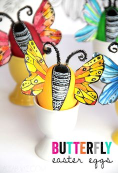 alisaburke- a fun Easter project for all ages- butterfly eggs!