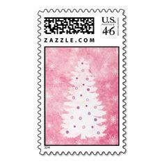 A Pink Christmas Postage Stamp
