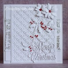 A Scrapjourney: White on White with a touch of Red