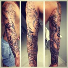 Egyptian sleeve tattoo