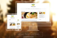 Healthy Living-Fresh Blogging Theme by Anariel Design on @creativemarket