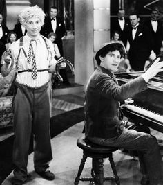 """Harpo and Chico Marx in """"Animal Crackers"""""""