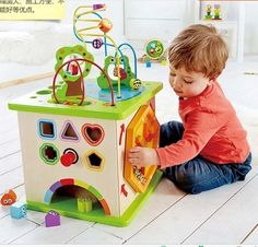 199.00$  Watch now - http://alirvg.worldwells.pw/go.php?t=32766530963 - Children's early education puzzle fun beads round bead multi-functional toy chest 199.00$