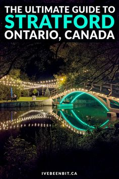 Cool Places To Visit, Places To Travel, Travel Destinations, Stratford Ontario, Alberta Travel, Vancouver Travel, Ontario Travel, Canadian Travel, Things To Do