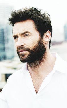 Hugh Jackman love the beard Hugh Jackman, Hugh Michael Jackman, X Men, Les Miserables, Hugh Wolverine, Oscar 2017, Gorgeous Men, Beautiful People, Jean Valjean