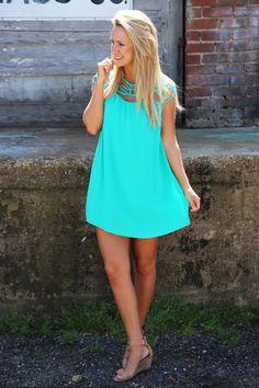 Charlotte's Web Dress {Emerald}