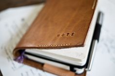 Custom leather cover for Moleskine Diary/Sketchbook