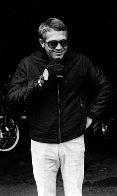 Steve McQueen - The King of Cool   The iconic Persol sunglasses.