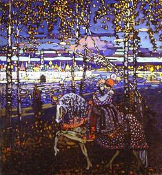 """kandinsky - riding couple    dear wassily, i love you"" I wouldn't go that far but I do like this a lot."