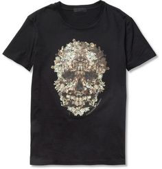 69455c1f Alexander McQueen Floral Skull-Print Cotton-Jersey T-Shirt Skull Print,  Floral