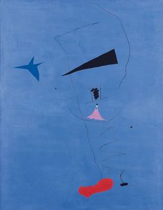 Blue star, by Joan Miro, 1927 #blue #art
