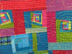 detail of a quilt from the Japanese International Quilt Festival