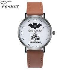 Vansvar Batman Relógio de Couro Marca De Moda Casual Mulheres Relógios de Pulso de Quartzo Relogio feminino Drop Shipping em Relógios das mulheres de Relógios no AliExpress.com | Alibaba Group
