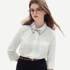 51f8cb8af064f1 Blusa Feminino 2016 Autumn Chic Vintage Cat Embroidery Collar White Blouse  Long Sleeve Shirt Women Tops Tees Chemise Femme-in Blouses & Shirts from  Women's ...