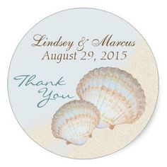 Sea Shell Beach Sticker