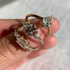 Explore Engagement Rings Celebrity Engagement Rings, Rose Gold Engagement Ring, Vintage Engagement Rings, Wedding Accessories, Jewelry Accessories, Engagement Inspiration, Piercing, Emerald Cut Diamonds, Pretty Rings