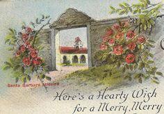 Greetings From California Vintage Christmas by TheOldBarnDoor