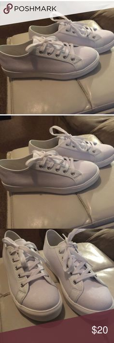 White loft sneakers White canvas never been worn sneakers LOFT Shoes Sneakers
