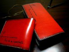 Long wallet-001-レッド