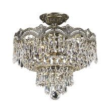 View the Crystorama Lighting Group 1483-CL Hand Polished Crystal Cast Brass Semi-Flush Ceiling Fixture at LightingDirect.com.