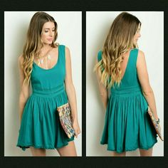 New Green Romper This green romper features lace detail around the waist and a deep v-neck line on back.  If unsure of what size to order, just ask and I can provide measurements!  Material: 100% rayon   No trades  ✔Reasonable offers considered. Pants Jumpsuits & Rompers