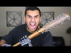 EXPERIMENT!! LUCILLE BARBED WIRE BASEBALL BAT!! NEGAN'S BAT FROM (THE WALKING DEAD) *MOST DANGEROUS* - YouTube