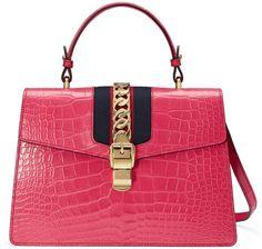 57f38e3db063 Sylvie medium crocodile top handle bag #fashion #pandafashion #satchel # gucci
