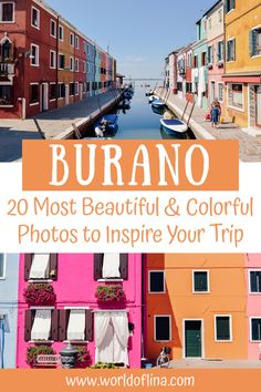 20 of the most beautiful and colorful photos of Burano. Get inspired for your trip to this gorgeous island near Venice. #venice #burano #italy | Burano Photos | Visit Burano | Venice Day Trips | Italy Travel Venice Travel, Rome Travel, Europe Destinations, Ukraine, Visit Venice, Things To Do In Italy, Italy Travel Tips, Visit Italy, France